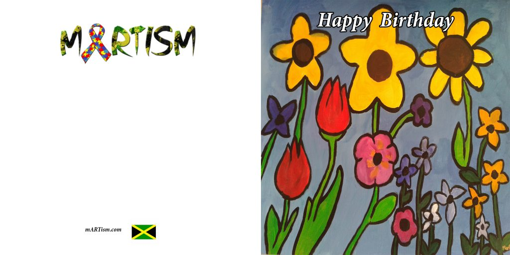 Flowers Birthday Card mARTism – Birthday Cards with Flowers